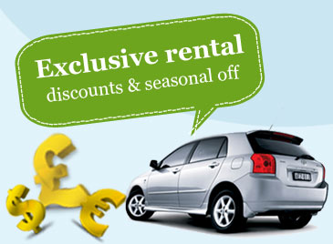 Exclusive Rental Discounts & Seasonal off